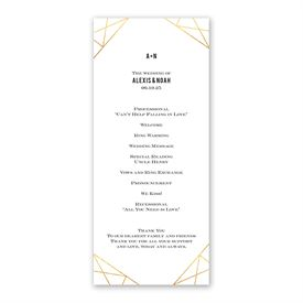 Gold Facets Wedding Program