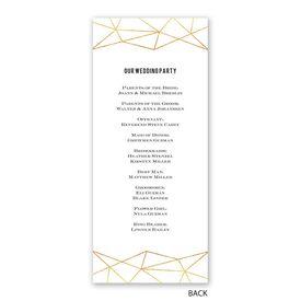 Gold Facets - Wedding Program