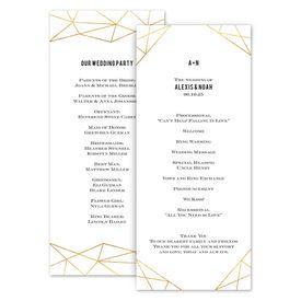 Wedding Programs: Gold Facets Wedding Program