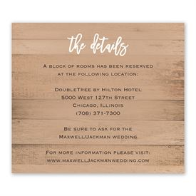 Wedding Reception Cards: All Things Information Card