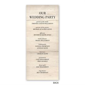 Raw Elegance - Wedding Program