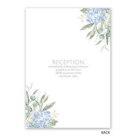 Blue Hydrangea - Invitation with Free Response Postcard