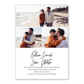 Modern Photo Invitation with Free Response Postcard