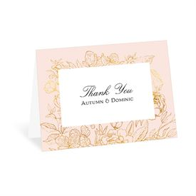 Wedding Thank You Cards: Gilded Garden Thank You Card