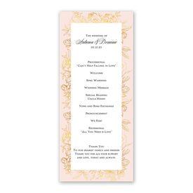 Gilded Garden Wedding Program