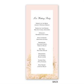Gilded Garden - Wedding Program