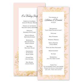 Wedding Programs: Gilded Garden Wedding Program