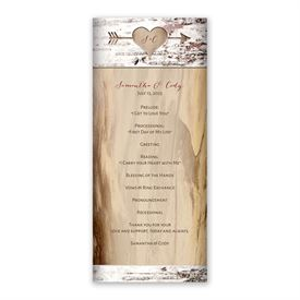 Carved Birch Wedding Program