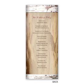 Carved Birch - Wedding Program
