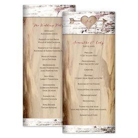 Wedding Programs: Carved Birch Wedding Program