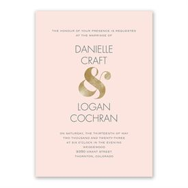 Gold Ampersand Invitation with Free Response Postcard