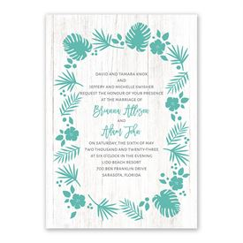Tropical Invitation with Free Response Postcard
