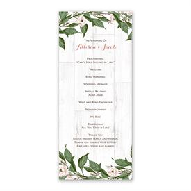 Farmhouse Floral Wedding Program