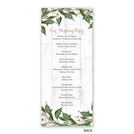 Farmhouse Floral - Wedding Program