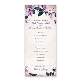 Victorian Floral Wedding Program
