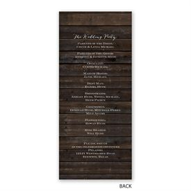 Rustic Floral - Wedding Program