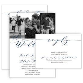 Wedding Invitations: Swept Away Invitation with Free Response Postcard