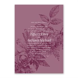 Garden Grace Invitation with Free Response Postcard