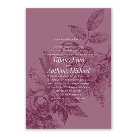 Garden Grace Invitation with Free Response Postcard