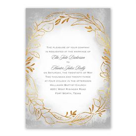 Golden Ring Invitation with Free Response Postcard