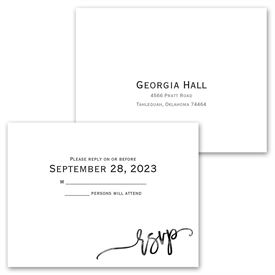 Simplicity - Invitation with Free Response Postcard