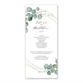 Eternity Wedding Program