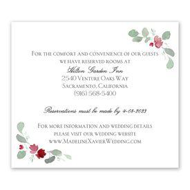Petite Blooms - Merlot - Information Card