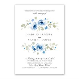 Petite Blooms Invitation with Free Response Postcard