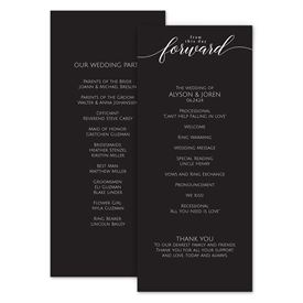 Wedding Programs: From This Day Wedding Program