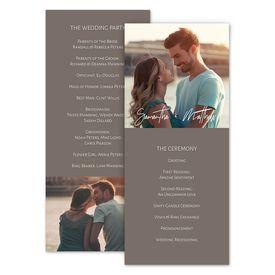 Wedding Programs: Basically Perfect Wedding Program