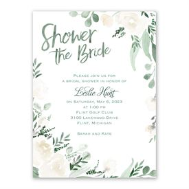 Painted Garden Bridal Shower Invitation
