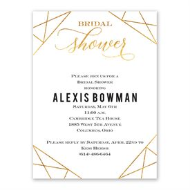 Gold Facets Bridal Shower Invitation