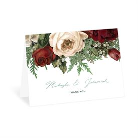 Wedding Thank You Cards: Winter Blooms Thank You Card