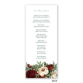 Winter Blooms - Wedding Program