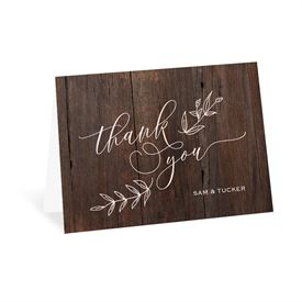 Wedding Thank You Cards: Rustic Romance Thank You Card