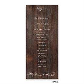 Rustic Romance - Wedding Program