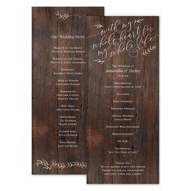 Wedding Programs: Rustic Romance Wedding Program