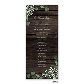 Delicate Details - Wedding Program