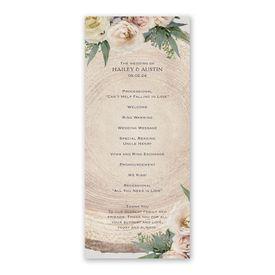 Woodland Rose Wedding Program