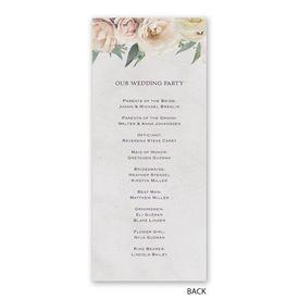 Woodland Rose - Wedding Program