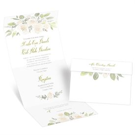 Fresh Floral Seal and Send Invitation