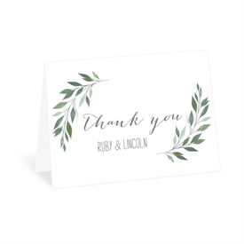 Wedding Thank You Cards: Inspired Greens Thank You Card