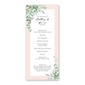 Watercolor Myrtle Wedding Program