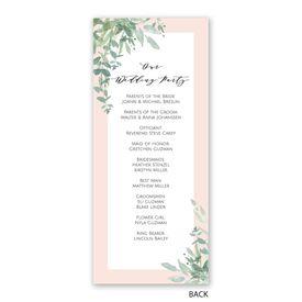 Watercolor Myrtle - Wedding Program