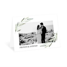 Wedding Thank You Cards: Minimalist Greenery Thank You Card