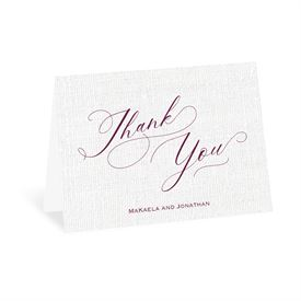 Wedding Thank You Cards: We Love Because Thank You Card