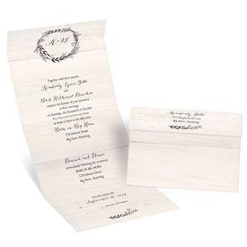 Wedding Invitations: Rustic Wreath Seal and Send Invitation
