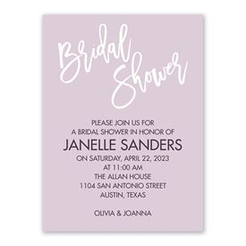Pure Bliss Bridal Shower Invitation