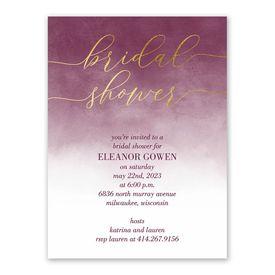 Ombre Shine Bridal Shower Invitation