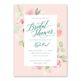 Garden Girl Bridal Shower Invitation